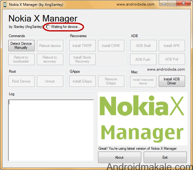 Nokia-X-Manager-Waiting-for-Device