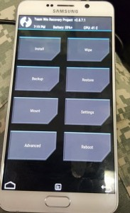 TWRP-Recovery-Samsung-Galaxy-Note-5-yükleme işlemleri android makale