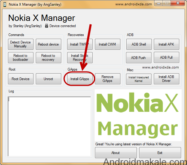 Nokia-X-Manager-Device-Install-Gapps-android makale