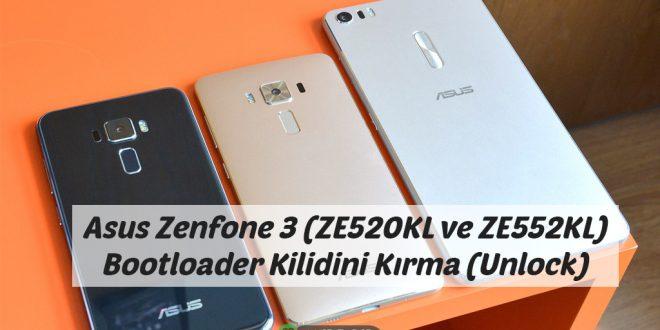 Asus Zenfone 3 (ZE520KL ve ZE552KL) Bootloader Kilidini